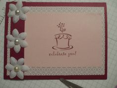 Simple card using Rich Razzleberry (my favorite color).
