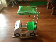 PGA tour toddler rocking golf cart rocker boy girl bedroom toy dad present show
