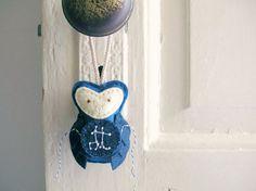 GEMINI Constellation // Felt Owl Ornament // Galaxy Decor by OrdinaryMommy on Etsy. $35.00, via Etsy.