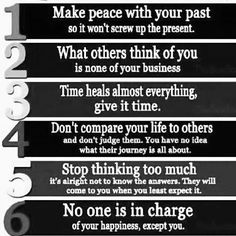 Number 5 just seems to keep slapping me in the face but I'm working on it, and that's all that matters!!!