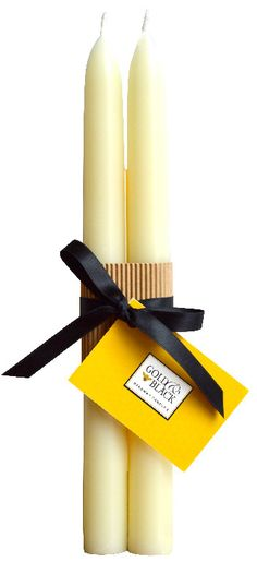 Beeswax taper candles carefully made by hand from fine quality ivory beeswax without additives. http://goldandblackcandles.co.uk/beeswaxcandles/