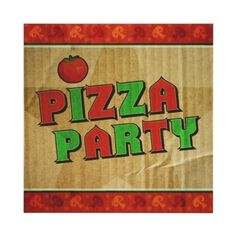 Love this! Take out pizza box birthday pizza party invitation. Fun!