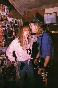 Axl Rose and Duff of Guns N' Roses, mid