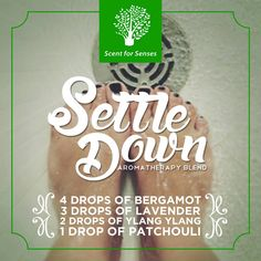 Scent for Senses' Settle Down Blend helps you ease out after giving away all your energy for the day. Best diffused while taking a shower before you sleep.  #IndulgeWithScentForSenses #ScentForSenses #Aromatherapy   Follow us on Twitter, Instagram & Pinterest: Scent4Senses
