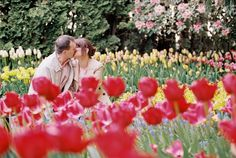 Photography: Alexandra Knight Photography - alexandraknightphotography.com  Read More: http://www.stylemepretty.com/2014/07/28/colorful-tulip-field-engagement/