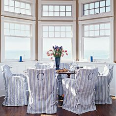 Classic Combo - Blue and White Beach House Decorating - Coastal Living