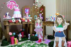 Decoração Rústica tema My Little Pony, apenas para Baixada Santista.