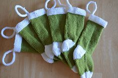 Knitted Xmas Stockings by Karen Anne