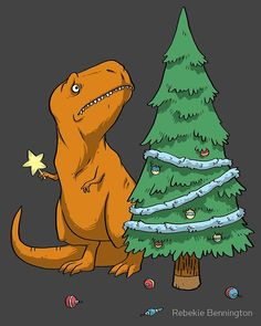 The Struggle T-Rex Christmas Tree T-Shirt. I actually think it's good when the leader shows weakness. Tyrannosaurus Rex was obviously the king of the dinosaurs. Having short arms gave him relatability. Endeared him to the dino population at large. T Rex Christmas Tree, Funny Christmas Cards, Christmas Art, Christmas Humor, Funny Christmas Wallpaper, Christmas Dinosaur, Christmas Landscape, Xmas Tree, Office Christmas Party Games
