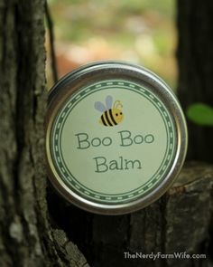 Boo Boo Balm - all natural first aid ointment with printable labels