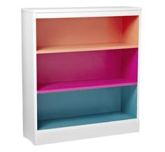 paint just inside of bookshelf