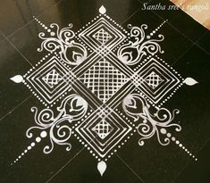 Rangoli Designs Latest, Simple Rangoli Designs Images, Rangoli Designs Flower, Rangoli Patterns, Rangoli Ideas, Rangoli Designs Diwali, Rangoli Designs With Dots, Kolam Rangoli, Flower Rangoli