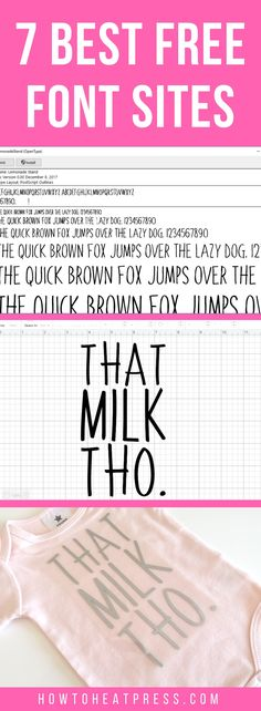 7 best free font sites