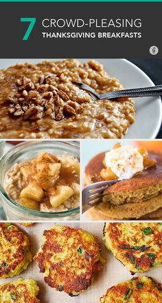 7 Easy Thanksgiving Breakfasts to Feed the Crowd #thanksgiving #breakfast