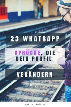 ᐅ 23 coole Whatsapp Status Sprüche kopieren & einsetzen