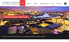 Just finished the new @PedenreidLaw website! Designed at @studio55web Powered by @IPS_IT #NewWebsite