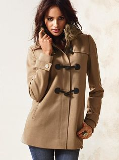 Toggle-Front Coat, deep camel, small $118 just in case the hubby asks....