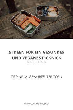 Grünes Essen | Tipp Nr. 2: Gewürfelter Tofu Tofu, Vegan Treats, Vegan Chocolate, Fresh Fruit, Delicious Snacks, Healthy Snack Foods, Healthy Picnic