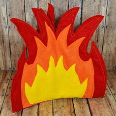 Sew a felt campfire for your little camper.