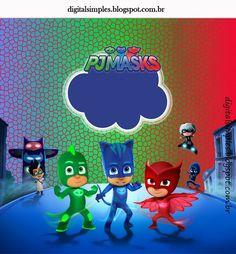 Kit de Super héroes en Pijamas para Imprimir Gratis.