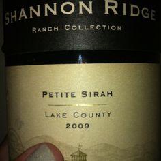 .@ShannonRidge '09 Petite Sirah. Blackberry, vanilla bean soaked cigars, boysenberry and crushed peppercorn medley.