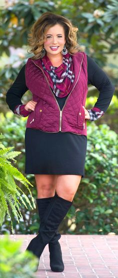 Tried And True Vest - Burgundy - Perfectly Priscilla Boutique