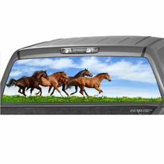 Saddled Horses Rear Window Graphic Rear Window Graphics - Back window stickers for trucks