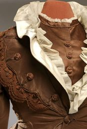 detail: Wedding Dress / Day Dress, 1872-76. Queen's University Collection of Canadian Dress. Photo: Paul Litherland, Montreal