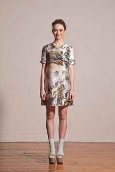 Lost Landscape Shift Dress by ApartofmeAPOM on Etsy, $319.00