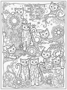 Adult Coloring Cats 14088, - Bestofcoloring.com