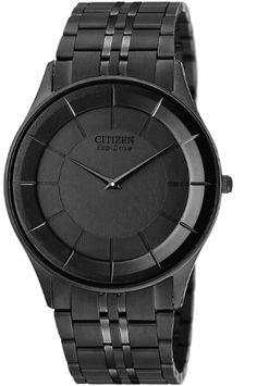 Citizen Men's AR3015-53E Eco-Drive Stiletto Black Ion-Plated Watch: Watches: Amazon.com