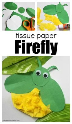 tissue paper firefly craft for kids is the perfect way to enjoy the text long after it is over, and to make your own little keepsake to remember the book. Here is how to get started! Insect Crafts, Bug Crafts, Preschool Crafts, Paper Crafts, Preschool Ideas, Preschool Rules, Daycare Crafts, Craft Ideas, Felt Crafts