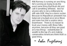 """...all they are good at is two things - redistribution of weath to the top 2% and making conservative Americans think that's a good thing."" John Fugelsang"