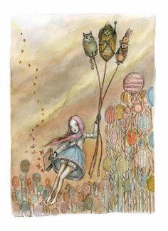 Illustrations of Alice in Wonderland