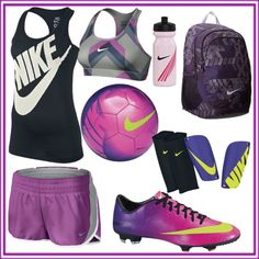 Purple!!!!I want this! Except the cleats...