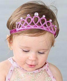 Whitney Elizabeth Pink Glitter Tiara Headband | zulily