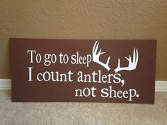 Count antlers... Wooden sign Www.facebook.com/thislittlelighthomedecorations