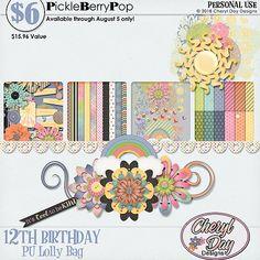 Lolly Bag 1 - PU {by Cheryl Day Designs} Lolly Bags, Cheryl, Birthday Celebration, Digital Scrapbooking, Happy Birthday, Design, Products, Happy Brithday, Urari La Multi Ani