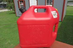 Vintage BLITZ 5 GALLON Gas Can / Jug Spout Plastic Red Vented Fuel Double Handle #Blitz