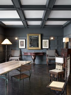 Adam Blackman and David Cruz coffered ceiling