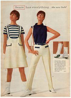 60s Fashion Trends, 60s And 70s Fashion, 60 Fashion, Retro Fashion, Vintage Fashion, Fashion Design, Decades Fashion, Gothic Fashion, Fashion Ideas