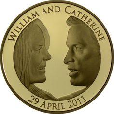 5 Pfund Gold Königliche Hochzeit - William und Catherine PP