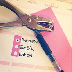 Washi Tape Bullet Journal Hack - hole punch washi tape to make a bullet journal…