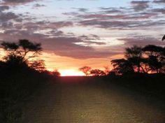 Sunset Driving at sunset