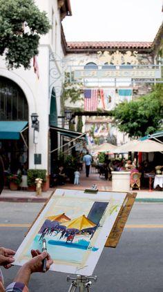 Art in the Streets of Santa Barbara - Eat Local in Santa Barbara
