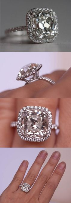 5.01 carat antique style cushion cut diamond. I would die.