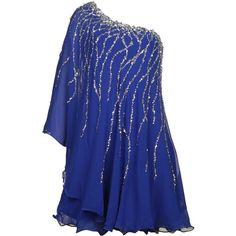 Forever Unique Angel Sequin Embellished Dress ($130) ❤ liked on Polyvore featuring dresses, vestidos, blue dresses, robe, blue, one sleeve sequin dress, sleeved dresses, sequin sleeve dress, sequin dresses and sleeve cocktail dress
