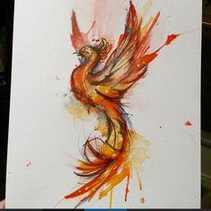 Phoenix ink drawing by Doriana Popa Mini Tattoos, Red Tattoos, Pretty Tattoos, Beautiful Tattoos, Body Art Tattoos, Tribal Tattoos, Small Tattoos, Sleeve Tattoos, Tatoos
