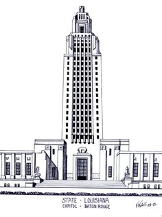 architectural drawings of famous buildings. Modren Drawings Louisiana State Capitol Building In Baton Rouge More Info At  Httpfrederic Intended Architectural Drawings Of Famous Buildings