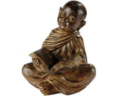 Bring some contemplative calm to an indoor living space. Our learned Buddha statue sits cross-legged with an open book in a pose that perfectly embodies the Buddhist Buddhism, Lion Sculpture, Open Book, Statue, The Originals, Antiques, Resin, February, Pose